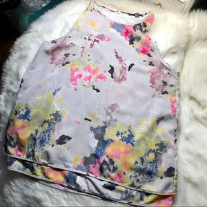 Tops - Abstract floral blouse